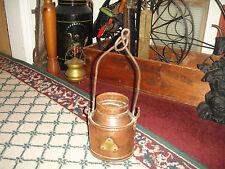 Vintage Unique Handicraft NY Copper Hanging Pot Cauldron-Arts & Crafts-Country