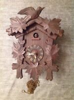 Antique Cuckoo Clock 26x20x13cm For Restoration From Clockmakers Spare Parts