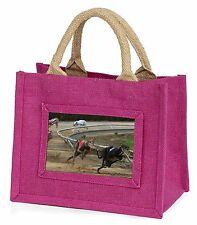 Greyhound Dog Racing Little Girls Small Pink Shopping Bag Christmas G, AD-GH1BMP