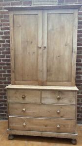 Antique Pine Housekeepers Cupboard / Larder