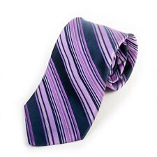 Ted Baker Purple Barcode Stripe Hand Tailored Silk Tie 10606