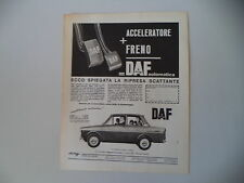 advertising Pubblicità 1964 DAFFODIL DAF FODIL 750