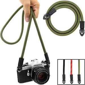 Kameragurt aus Seil: Schultergurt für Canon, Nikon, Sony, Fuji, Pentax etc.