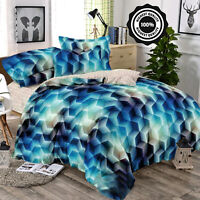 4 Pcs Printed Duvet Quilted Cover New 3D Effect Complete Bedding Set Double King