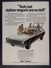 1973 AMC Hornet Sportabout Wagon photo vintage print Ad