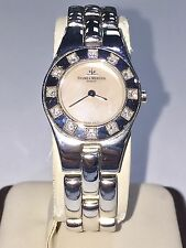 Baume Mercier 18K Solid White Gold Mother of Pearl Dial Ladies Diamond Watch