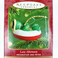 Hallmark Keepsake Lazy Afternoon Fishing Turtle Christmas Ornament