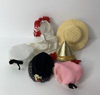 """6 Madame Alexander Assorted Lot Hats Headpieces Caps Fits 8""""Dolls"""