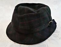 GERMANY-VINTAGE MAYSER PLAIDS WOOL CASHMERE MEN'S FEDORA HAT SIZE:US7 1/8;EU57