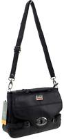 Women Real Leather Handbag Long Strap Messenger Bag Shoulder Grab Bag Purse Blac