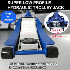 Super Low Profile Car Hydraulic Trolley Floor Jack Dual Pump Quick Lift