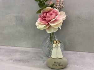 Small Sentiments Sisters Are Forever Friends  Stone Pebble Ornament 285373