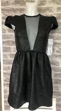 LADIES JONES AND JONES LEATHER LOOK DRESS UK 10 BNWT