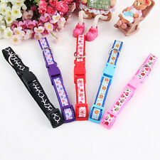 Glossy Reflective Cats Collar Safety Buckle Small Dog Puppy Cat Collar with Bell