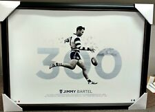 JIMMY BARTEL 300 GAMES GEELONG PRINT FRAMED  - CATS 3 TIME PREMIERSHIP PLAYER