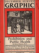 1928 Survey Graphic December-Prohibition and Public Health;Frank Silva Confesses