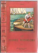 Les JEUNES ROBINSONS ou la Dérive de David KER illustré par CALVET-ROGNIAT ~1940