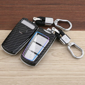 Carbon Fiber Car Key Fob Cover Case Holder Shell Fit For VOLKSWAGEN CC Passat CC