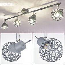 Plafonnier Lampe à suspension Lustre Lampe de bureau Lampe de séjour Métal gris