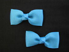 baby girl hair accessories blue turquoise bow clips small