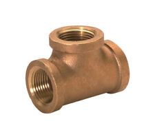 JMF  1/4 in. FPT   x 1/4 in. Dia. FPT  Red Brass  Tee
