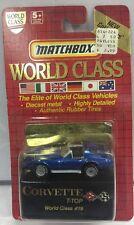 NEW 1991 Matchbox World Class T-Top Blue Corvette #19