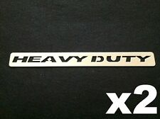 "2pcs Bully Universal 11"" HEAVY DUTY Stainless Steel Body Decal Badge Emblem Logo"
