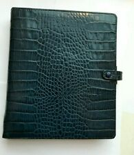 Filofax A5 Ascot size leather Blue Navy planner Organizer - retired color unused