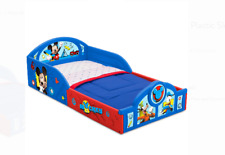 Disney Mickey Mouse Plastic Sleep and Play Toddler Bed Boys Blue Toddlers New