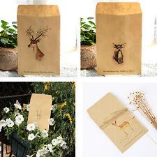 Cute 12 pcs/bag 4 Designs Deer Paper Envelope Envelopes Vintage European Style