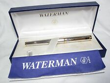 WATERMAN  PREFACE  SILVER & GOLD ROLLERBALL PEN     IN BOX  **