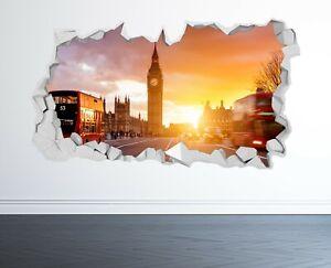 LONDON WALL STICKER 3D LOOK - BEDROOM LOUNGE LONDON EYE WALL DECAL Z1116