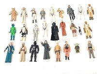 Vintage Star Wars Lot Kenner L.F.L Hong Kong GMFGI 24 Action Figures 1977-1995