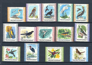 Montserrat 1970 Bird s set of 14 fine MH/LMM