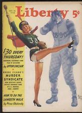 Liberty magazine 10/22/38 Sexy Football Cheerleader Pinup cer  S ball