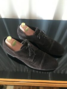 Ermenegildo Zegna Men's Brown Suede leather Dress Shoes SZ 13 USA