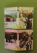 SWORD ART ONLINE   VOLUME 1 & 2   2 x DVD   VGC  
