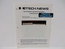 Kawasaki Magazine K Tech News Microfiche Volume 1 Number 1 Through Vol 4 No 3