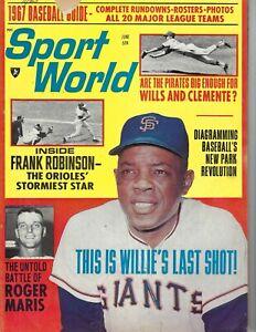 1967 Sport World baseball magazine Willie Mays San Francisco Giants TEAR