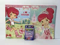 New 2 Strawberry Shortcake Jumbo Coloring & Activity Book + Glitter Crayons