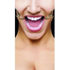 Ouch! By Shots Media  Hook Mouth Gag w/ Leather Straps, Purple - Sealed Package