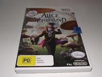 Disney's Alice in Wonderlard Nintendo Wii PAL *Complete* Wii U Compatible