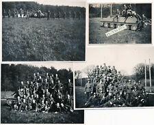 4 Wehrmacht Photos Ausbildung / Panzer Attrappe russ. T.34 !