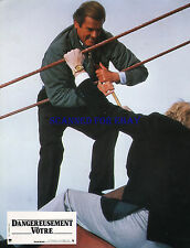 JAMES BOND A VIEW TO A KILL ORIG FRENCH PHOTO ROGER MOORE CHRISTOPHER WALKEN