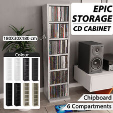 vidaXL CD Cabinet Chipboard Bluray Storage Cabinet Rack Multi Colours