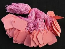 200 x 42mm x 27mm Pink Strung String Tags Swing Price Tickets Tie On Labels