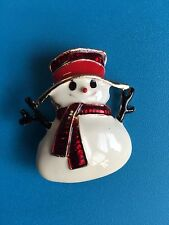 SNOWMAN christmas fashion party brooch rhinestones jewelry gold tone gift #5