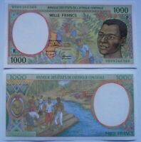 REPUBLICA ÁFRICA CENTRAL, 1000 francos 1999: P-302.Ff. Letra F. Plancha UNC