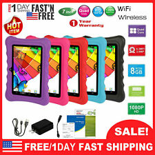 """7"""" Kids Tablet Android 8.1 PC Dual Cameras WiFi 8GB Bundle Case Christmas Gift"""