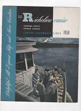 CANADA STEAMSHIP LINES S.S. Richelieu brochure 1950 ship and shore vacation